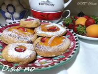 Biscotti di frolla senza burro con frutta