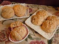 Biscotti senza burro con mele, cocco e cannella
