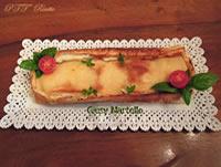 Cake di pancarrè, pomodorini e mozzarella di bufala