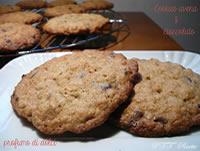 Cookies all'avena e cioccolato