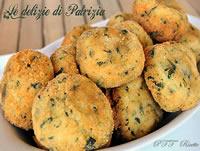 Crocchette di patate, porri e spinaci