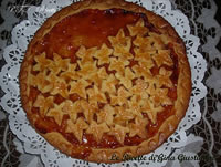 Crostata con confettura di albicocche