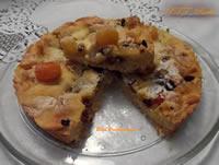 Crostata con mascarpone e frutta esotica disidratata