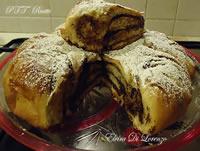 Fiore di pan brioche farcito con Nutella