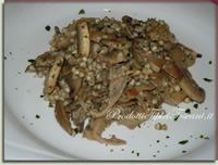 Grano saraceno con funghi