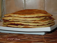 Pancakes salati al basilico