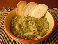 Pasta con lenticchie ed orzo