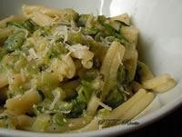 Pasta con zucchine e porri