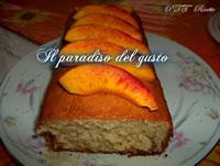 Plum cake sofficioso al the e pesche