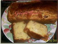 Plumcake con mortadella, formaggio e mandorle