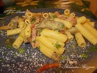 Rigatoni carciofi e pancetta