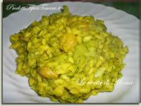 Riso allo zafferano con broccoli e gamberetti