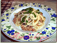 Spaghetti asparagi e tonno