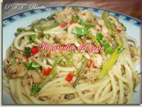 Spaghetti con asparagi e tonno