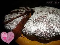Torta al cioccolato fondente e arancia candita