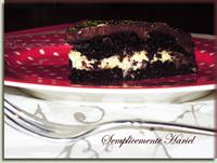 Torta caprese con crema chantilly