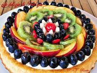 Torta chantilly e frutta