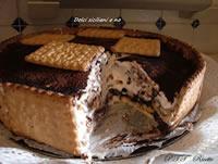 Torta di biscotti con cioccolato e mascarpone