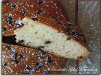 Torta leggera con gocce di cioccolato e cocco