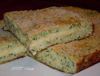 Torta salata con ricotta, zucchine e formaggio