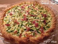 Torta salata con zucchine, crescenza e prosciutto cotto