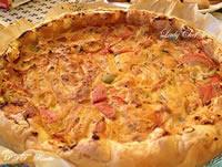 Torta salata di peperoni e ricotta
