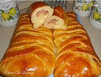 Treccia danese di pan brioche