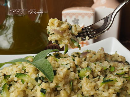 Bulgur zenzero e zucchine