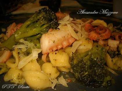 Orecchiette con polpo e broccolo siciliano