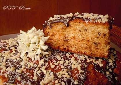 Torta ricotta, cocco e cioccolato