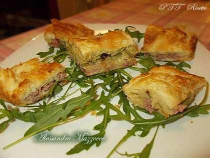 Torta rustica broccoli e salsicce