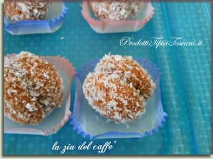 Amaretti al caffè nutella e cocco