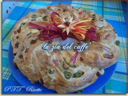 Angelica salata con salame, pancetta, formaggio, olive