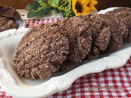 Biscotti al cacao senza glutine e lattosio