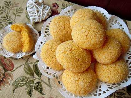 Biscotti al limone con farina di mais fioretto