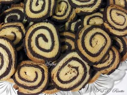 Biscotti bicolore al cacao