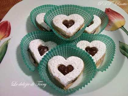 Biscotti Cuoricini con Nutella