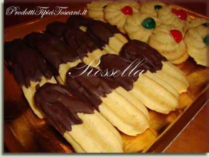 Biscotti di frolla montata con cioccolato