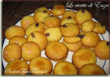 Biscotti di pasta frolla di farina di mandorle