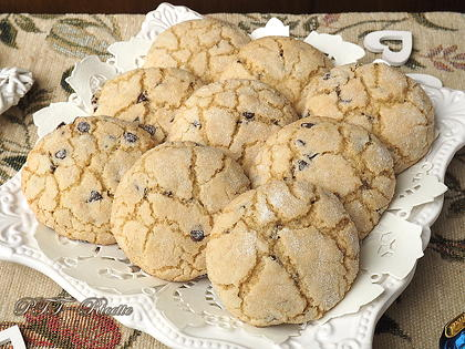 Biscotti per la colazione con gocce di cioccolato