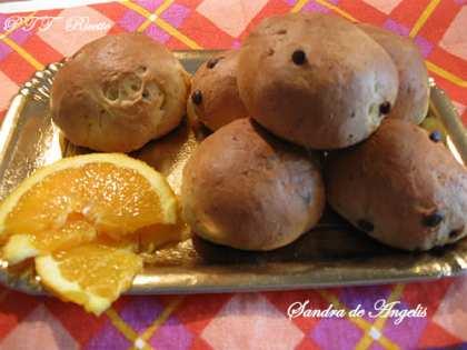 Brioche tipo pan goccioli all'arancia
