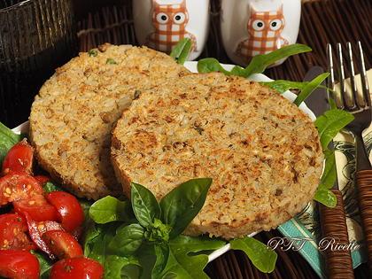 Burger vegetali di riso e legumi