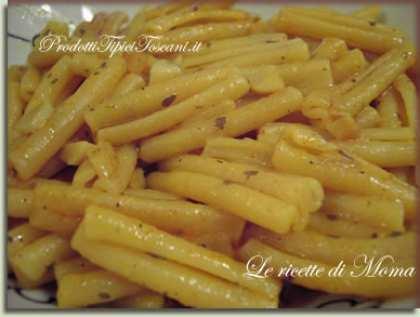 Caserecce aglio, olio, curry