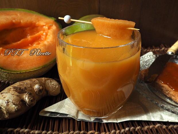 Centrifugato di mango, melone, zenzero