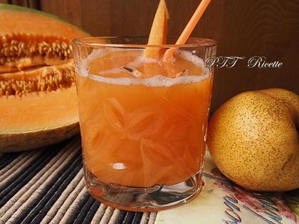 Centrifugato di pera e melone