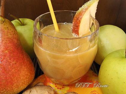 Centrifugato di zenzero, mela e pera