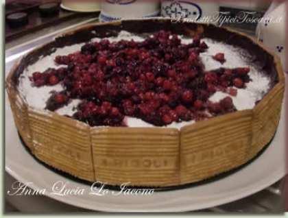 Cheesecake ai frutti di bosco con ricotta