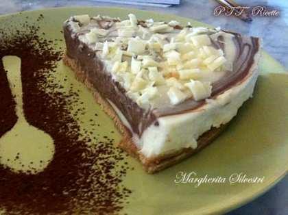 Cheesecake variegato cioccolato bianco e fondente