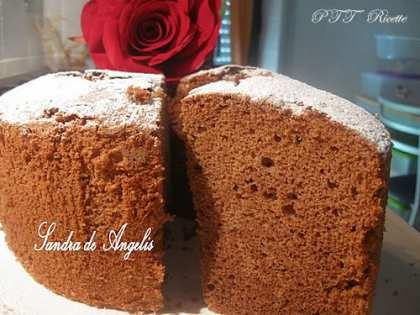 Chiffon cake al cioccolato fondente