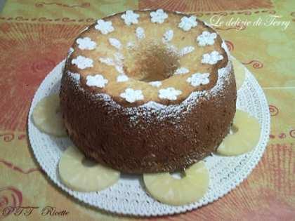Chiffon cake all'ananas